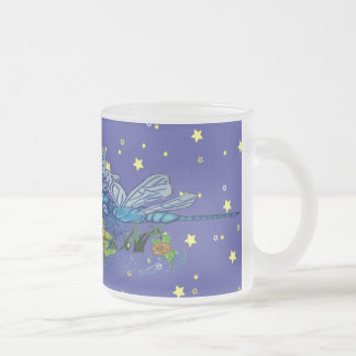 Searching Dragonfly 10 Oz Frosted Glass Coffee Mug