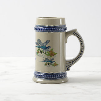 Searching Dragonfly Beer Stein