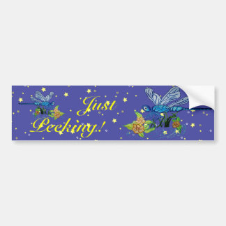 Searching Dragonfly Bumper Sticker