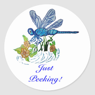 Searching Dragonfly Round Stickers