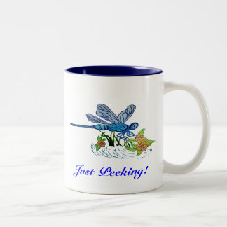 Searching Dragonfly Two-Tone Coffee Mug