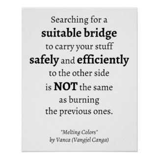Searching for a Suitable Bridge quote - poster