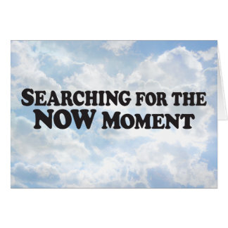 Searching for Now Moment - Horz Greeting Card