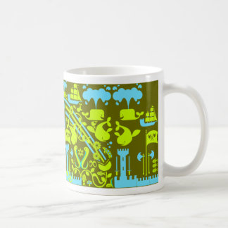 Searching  for the whale castle classic white coffee mug