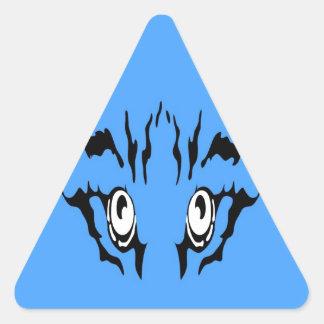 Searching true love Tiger eye Triangle Sticker