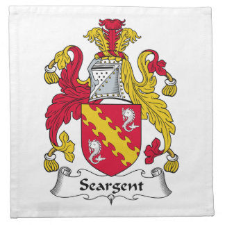 Seargent Family Crest Cloth Napkin