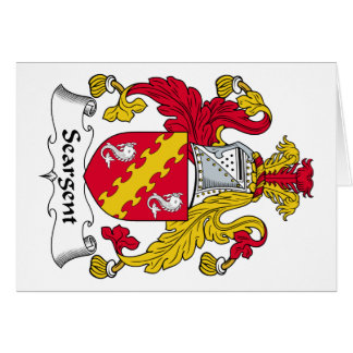 Seargent Family Crest Greeting Card