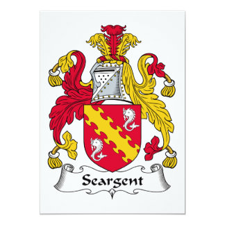 Seargent Family Crest 5x7 Paper Invitation Card