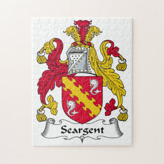 Seargent Family Crest Jigsaw Puzzles