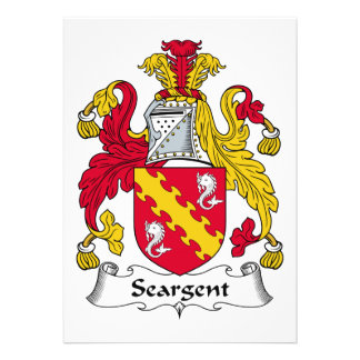 Seargent Family Crest Personalized Invitation