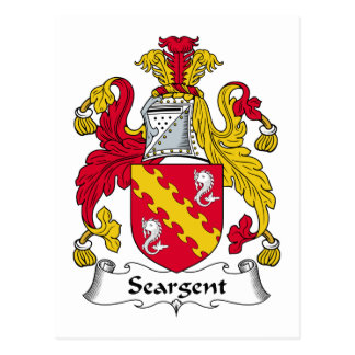 Seargent Family Crest Postcards