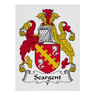 Seargent Family Crest Posters