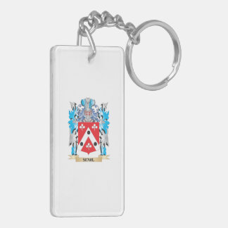 Searl Coat of Arms - Family Crest Double-Sided Rectangular Acrylic Keychain