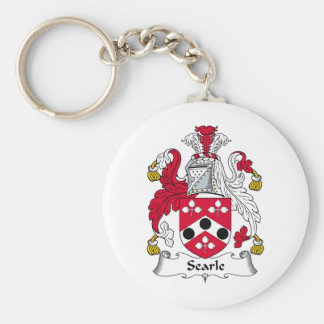Searle Family Crest Basic Round Button Keychain