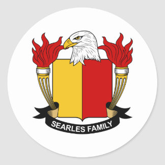 Searles Family Crest Classic Round Sticker