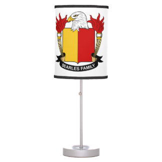 Searles Family Crest Desk Lamps