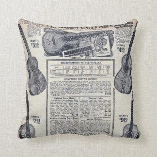 Sear's Magazine Guitar Advertisement Throw Pillow