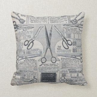 Sear's Magazine Scissors Advertisement Throw Pillows