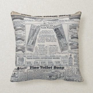 Sear's Magazine Toothpaste & Soap Advertisement Pillow