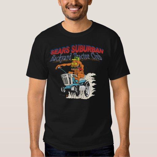 Sears Suburban Backyard Tractor Club in black Tee Shirt