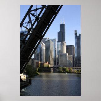 Sears Tower Drawbridge Poster