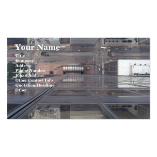 Sears Tower Looking Down Business Card