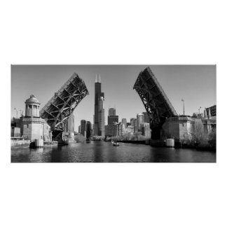 SEARS TOWER - ROOSEVELT RD BRIDGE - CHICAGO POSTER
