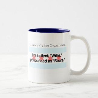 Sears Tower Two-Tone Coffee Mug