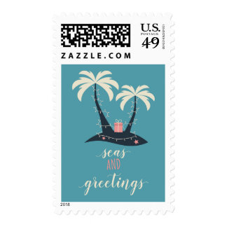 Seas and Greetings Christmas Postage