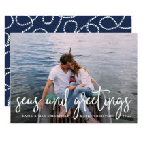 Seas and Greetings | Nautical Holiday Photo Card