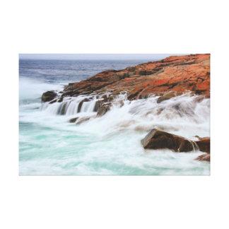 Seas Breaking on Schoodic Point, Acadia NP Canvas Print