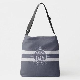 Seas the Day and be a Beach Bum Nautical Theme Crossbody Bag