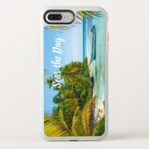 """""""Seas the Day"""" Beach Boat Cell phone Accessory OtterBox Symmetry iPhone 8 Plus/7 Plus Case"""