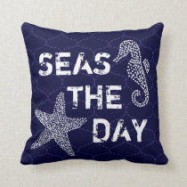 Seas The Day Beach Ocean Pillow Bendel Designs