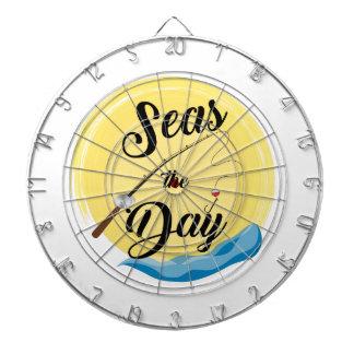 Seas The Day Dartboard With Darts
