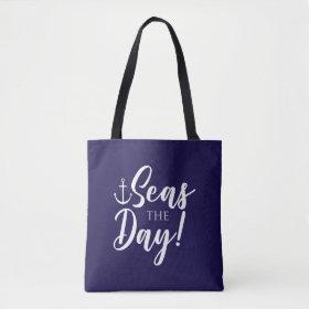 Seas the Day! Nautical Tote Bag