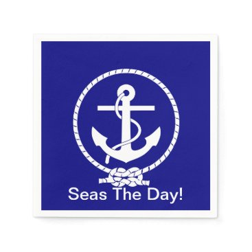 Beach Themed Seas the day! Paper napkins