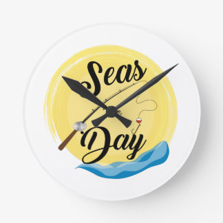 Seas The Day Round Clock