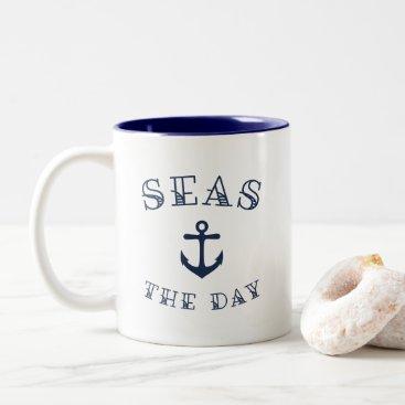 Seas the Day Two-Tone Coffee Mug