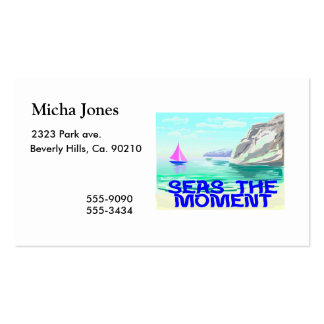 Seas The Moment Business Card Templates