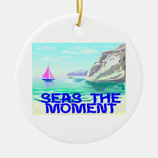 Seas The Moment Christmas Ornament