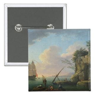 Seascape, 1748 pinback button