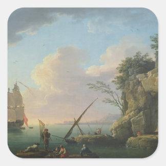 Seascape, 1748 square sticker