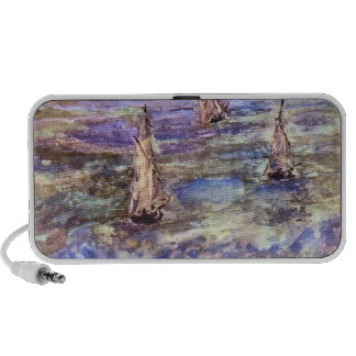 Seascape 1873 by Edouard Manet Portable Speakers