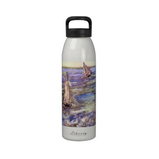Seascape, 1873 by Edouard Manet Reusable Water Bottle