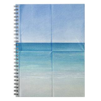 Seascape 1984 spiral notebook