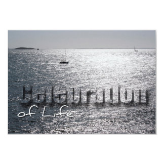 Seascape 1 Celebration of Life Memorial Service 3.5x5 Paper Invitation Card