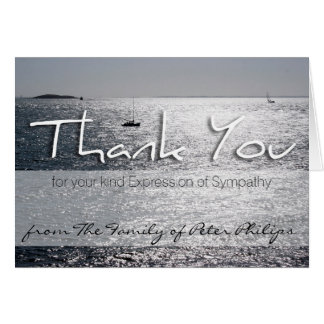 Seascape 1 Sympathy Memorial Thank You Note Card