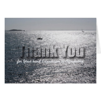 Seascape 1 Sympathy Thank You note card