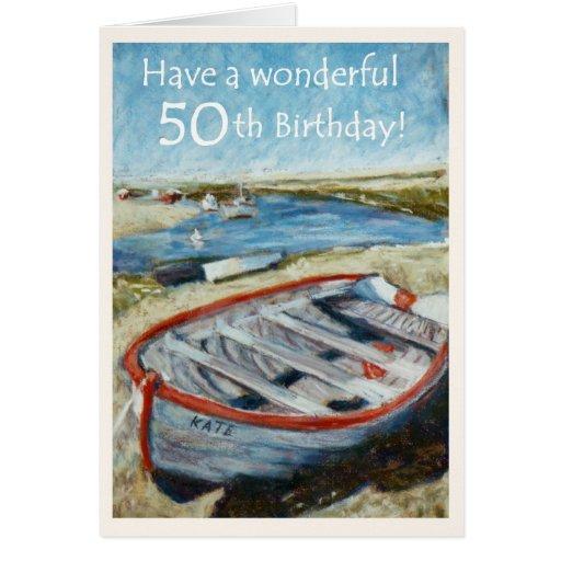 Seascape 50th Birthday Card